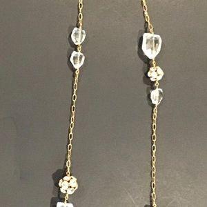 Vintage J CREW Goldtone Long Necklace